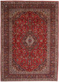Keshan Matto 297X410 Itämainen Käsinsolmittu Tummanpunainen/Ruskea Isot (Villa, Persia/Iran)