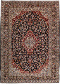 Keshan Rug 302X419 Authentic  Oriental Handknotted Light Brown/Black Large (Wool, Persia/Iran)