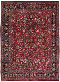 Mashad Rug 295X402 Authentic  Oriental Handknotted Dark Red/Crimson Red Large (Wool, Persia/Iran)