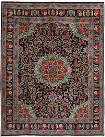 Mashad Rug 294X382 Authentic Oriental Handknotted Dark Purple/Brown Large (Wool, Persia/Iran)