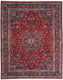 Mashad Rug 303X377 Authentic Oriental Handknotted Dark Red/Dark Brown Large (Wool, Persia/Iran)