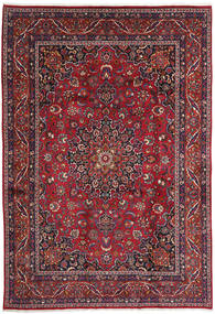 Mashad Rug 255X370 Authentic  Oriental Handknotted Crimson Red/Brown Large (Wool, Persia/Iran)