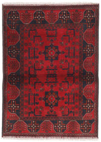 Afghan Khal Mohammadi Rug 99X139 Authentic  Oriental Handknotted Dark Red/Crimson Red (Wool, Afghanistan)