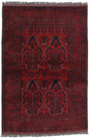 Afghan Khal Mohammadi Matta 105X154 Äkta Orientalisk Handknuten Mörkröd/Röd (Ull, Afghanistan)