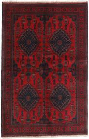 Afghan Khal Mohammadi Matto 125X194 Itämainen Käsinsolmittu Tummanpunainen/Musta (Villa, Afganistan)