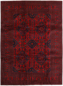 Afghan Khal Mohammadi Teppe 251X341 Ekte Orientalsk Håndknyttet Mørk Rød/Mørk Brun Stort (Ull, Afghanistan)