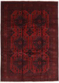 Afghan Khal Mohammadi Teppe 261X335 Ekte Orientalsk Håndknyttet Mørk Rød/Mørk Brun Stort (Ull, Afghanistan)