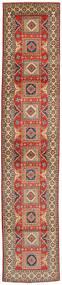 Kazak Rug 78X396 Authentic Oriental Handknotted Hallway Runner Light Brown/Brown (Wool, Pakistan)