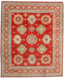 Kazak Rug 248X299 Authentic  Oriental Handknotted Rust Red/Dark Beige (Wool, Pakistan)
