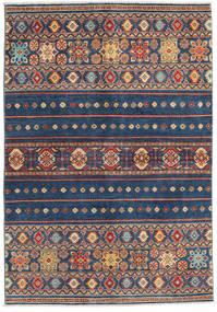 カザック 絨毯 139X201 オリエンタル 手織り 紺色の/青 (ウール, パキスタン)