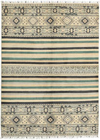 Kazak Teppich 170X235 Echter Orientalischer Handgeknüpfter Dunkel Beige/Dunkelgrau (Wolle, Pakistan)