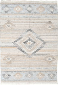 Tulum Rug 140X200 Authentic  Modern Handwoven Light Grey/Beige ( India)