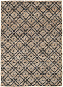 Trisha Rug 140X200 Authentic  Modern Handwoven Light Brown/Dark Grey ( India)