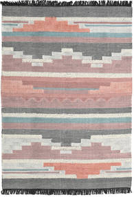 Misha Rug 140X200 Authentic  Modern Handwoven Light Purple/Dark Grey (Wool, India)