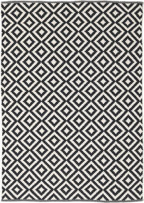 Torun - Negru/Neutral Covor 140X200 Modern Lucrate De Mână Negru/Gri Deschis (Bumbac, India)