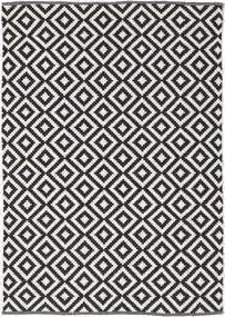 Torun - Black/Neutral Rug 140X200 Authentic Modern Handwoven Black/Light Grey (Cotton, India)