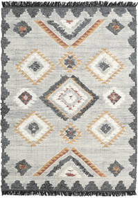 Dixie Rug 140X200 Authentic  Modern Handwoven Light Grey/Dark Beige (Wool, India)