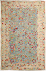Kilim Afghan Old Style Rug 351X548 Authentic  Oriental Handwoven Light Brown/Light Grey Large (Wool, Afghanistan)