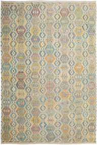 Kilim Afghan Old Style Rug 356X528 Authentic  Oriental Handwoven Light Grey/Light Brown Large (Wool, Afghanistan)