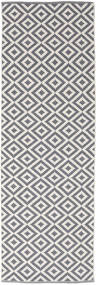 Torun - グレー/Neutral 絨毯 80X300 モダン 手織り 廊下 カーペット 薄い灰色/薄紫色 (綿, インド)