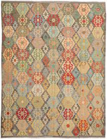 Kilim Afghan Old Style Rug 300X387 Authentic  Oriental Handwoven Light Brown/Pastel Green Large (Wool, Afghanistan)