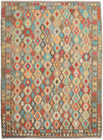 Kilim Afghan Old Style Rug 255X344 Authentic  Oriental Handwoven Light Brown/Dark Beige Large (Wool, Afghanistan)