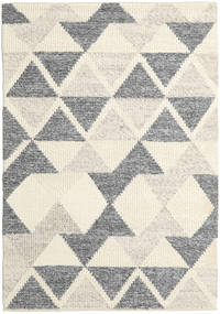 Trixon Rug 170X240 Authentic  Modern Handwoven Beige/Dark Grey/Dark Beige (Wool, India)