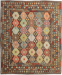 Kilim Afghan Old Style Rug 312X376 Authentic  Oriental Handwoven Brown/Dark Brown Large (Wool, Afghanistan)