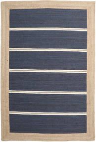 Frida Stripe - Blu Tappeto 200X300 Moderno Tessuto A Mano Blu/Beige/Blu Scuro ( India)