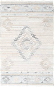 Tulum Rug 200X300 Authentic  Modern Handwoven Beige/Light Grey ( India)