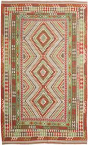 Kelim Afghan Old Style Teppe 257X415 Ekte Orientalsk Håndvevd Brun/Lysbrun Stort (Ull, Afghanistan)