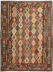 Kilim Afghan Old Style Rug 257X348 Authentic  Oriental Handwoven Dark Brown/Light Brown Large (Wool, Afghanistan)