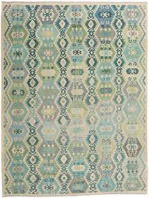 Kelim Afghan Old Style Matto 299X396 Itämainen Käsinkudottu Vaaleanharmaa/Vaaleanruskea Isot (Villa, Afganistan)