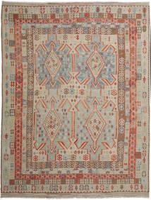 Kelim Afghan Old Style Matto 309X398 Itämainen Käsinkudottu Vaaleanruskea/Vaaleanharmaa Isot (Villa, Afganistan)