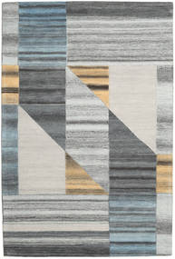 Tic Tac Rug 200X300 Modern Light Grey/Dark Grey (Wool, India)