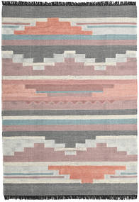 Misha Rug 200X300 Authentic Modern Handwoven Dark Grey/Dark Beige (Wool, India)
