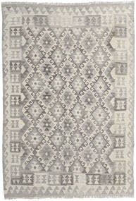 Kilim Afghan Old Style Rug 142X205 Authentic  Oriental Handwoven Light Grey/Dark Beige (Wool, Afghanistan)