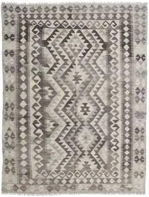 Kelim Afghan Old Style Vloerkleed 151X200 Echt Oosters Handgeweven Lichtgrijs/Donkergrijs (Wol, Afghanistan)