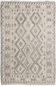 Kilim Afghan Old Style Rug 138X208 Authentic  Oriental Handwoven Light Grey (Wool, Afghanistan)