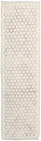 Kelim Afghan Old Style Vloerkleed 85X296 Echt Oosters Handgeweven Tapijtloper Lichtgrijs/Beige (Wol, Afghanistan)