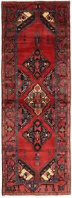 Saveh Rug 107X304 Authentic  Oriental Handknotted Hallway Runner  Dark Red/Black (Wool, Persia/Iran)