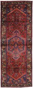 Hamadan Rug 106X300 Authentic  Oriental Handknotted Hallway Runner  Dark Red/Brown (Wool, Persia/Iran)