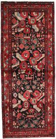 ハマダン 絨毯 113X292 オリエンタル 手織り 廊下 カーペット 深紅色の/黒 (ウール, ペルシャ/イラン)