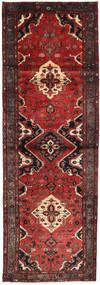 Hamadan Matto 103X309 Itämainen Käsinsolmittu Käytävämatto Tummanpunainen/Tummanruskea (Villa, Persia/Iran)