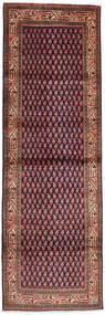 Sarough Mir Matto 103X314 Itämainen Käsinsolmittu Käytävämatto Ruskea/Musta (Villa, Persia/Iran)