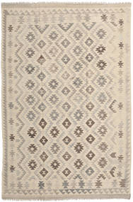 Kilim Afghan Old Style Rug 202X293 Authentic  Oriental Handwoven Light Brown/Beige (Wool, Afghanistan)