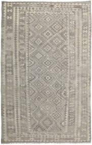 Kelim Afghan Old Style Tæppe 204X315 Ægte Orientalsk Håndvævet Lysegrå (Uld, Afghanistan)
