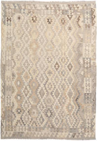 Kilim Afghan Old Style Rug 211X292 Authentic  Oriental Handwoven Light Brown/Beige (Wool, Afghanistan)