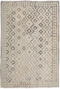 Kelim Afghan Old Style Matto 203X292 Itämainen Käsinkudottu Vaaleanruskea/Vaaleanharmaa (Villa, Afganistan)