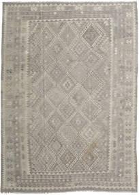 Kelim Afghan Old Style Tæppe 212X296 Ægte Orientalsk Håndvævet Lysegrå/Lysebrun (Uld, Afghanistan)